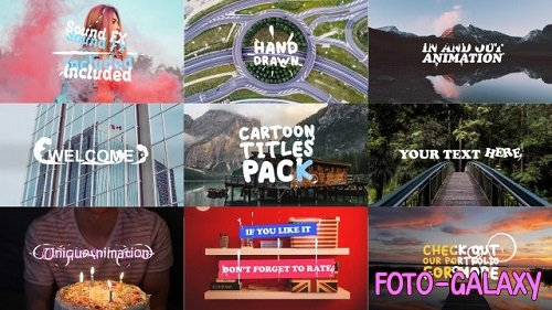 Cartoon Titles Pack 211013 - After Effects Templates