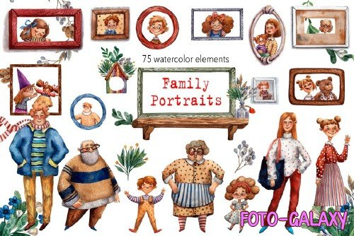 Family Portraits - Watercolor Set - 3516112