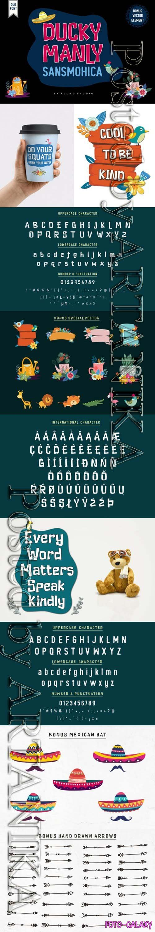 Ducky Manly Font Family