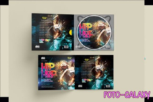 Hip Hop - PSD Mockup to Your CD Artwork