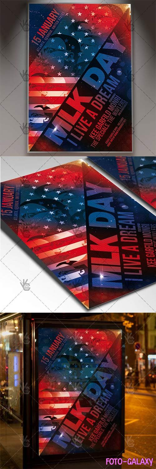 MLK Day – American Fl59yer PSD Template