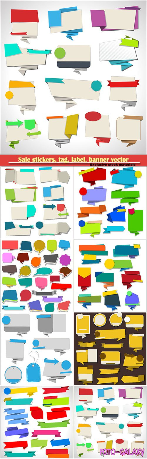 Sale stickers, tag, label, banner vector collection