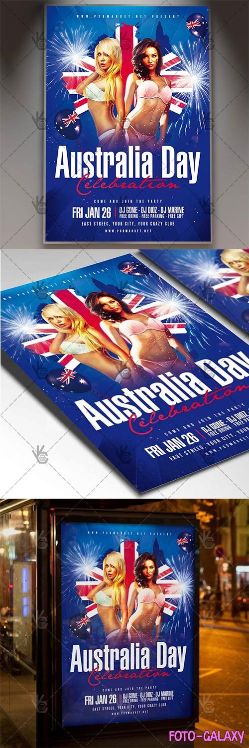 Australia Day Celebration – Club Flyer PSD Template