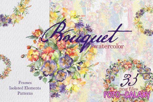 Beautiful Bouquets Watercolor png - 258740