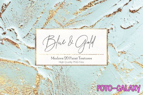 Blue Gold Paint Backgrounds - 2524554