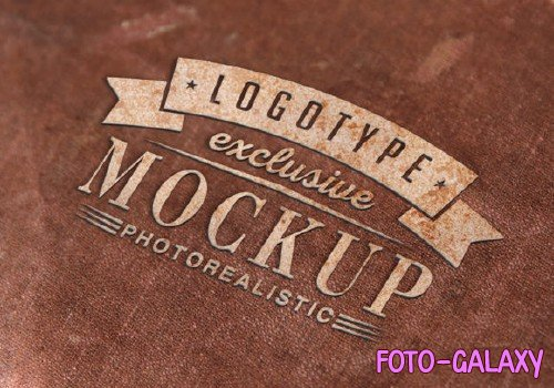 Realistic Mock-ups on Vintage Background - 7-3
