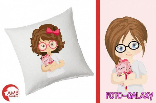 Planner Girls Clipart AMB-2164 - 256628