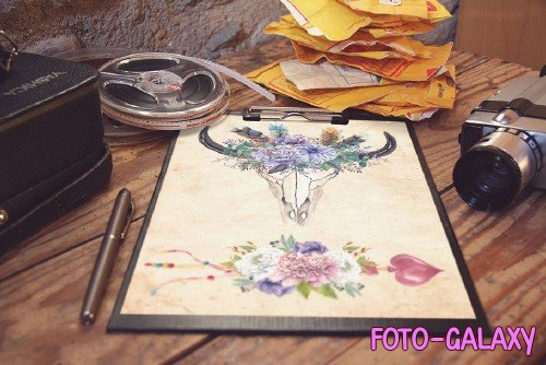 Watercolor tribal clipart - 1632604