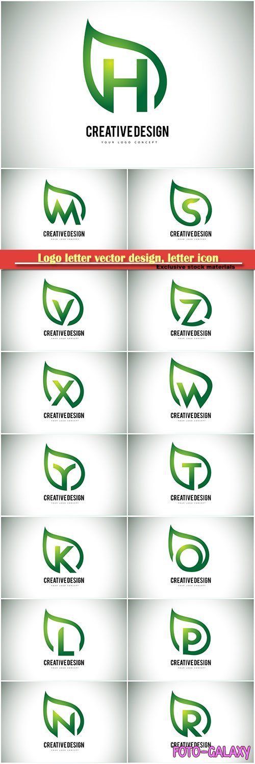 Logo letter vector design, letter icon # 30