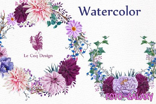 Watercolor Wreaths Clipart - 1162947
