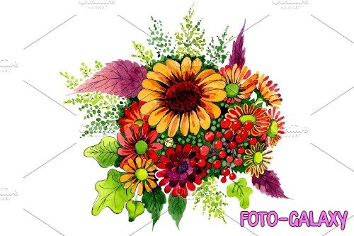 Bouquet of wild flowers PNG set - 3103668