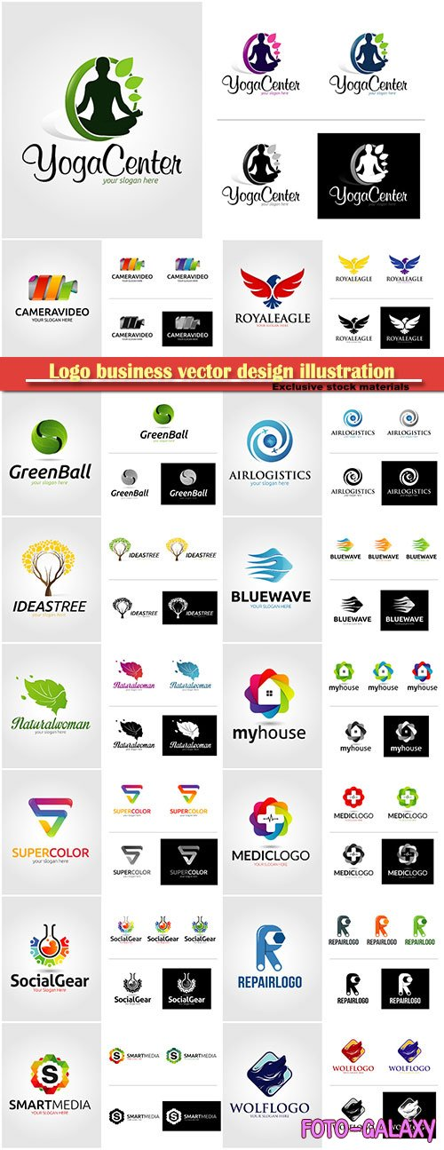 Logo business vector design illustration # 117
