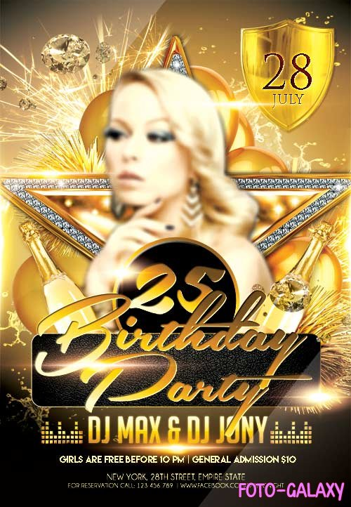 Birthday Party 5 psd flyer template
