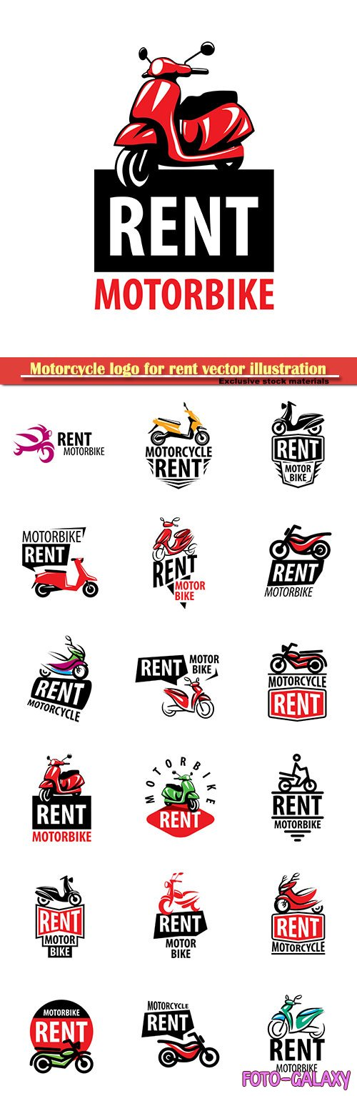 Motorcycle logo for rent vector illustration
