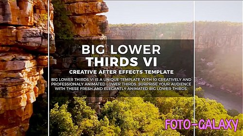 Big Lower Thirds VI 276220 - Motion Graphics Templates