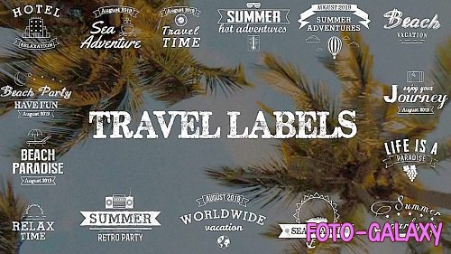 Travel Labels 281096 - After Effects Templates