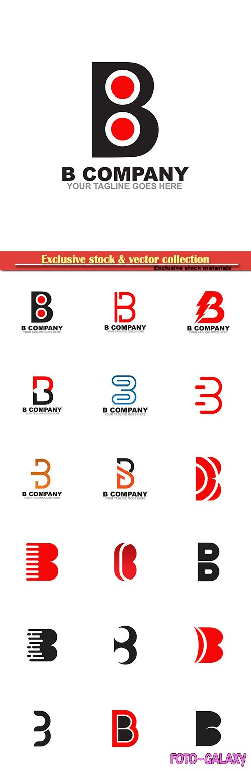B Company your tagline goes here vector logo