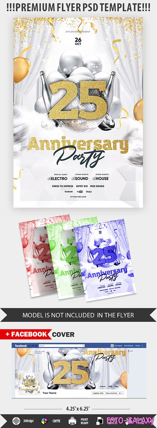 Anniversary Party psd flyer