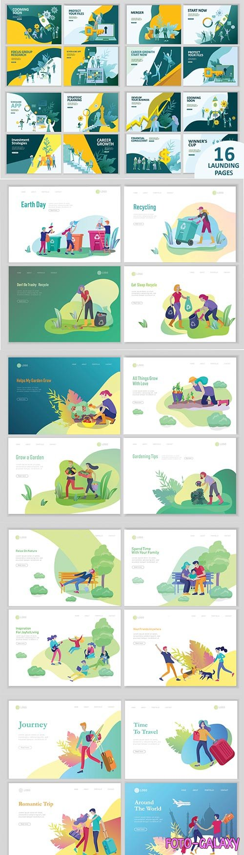Website page isometric vector, flat banner concept illustration # 4