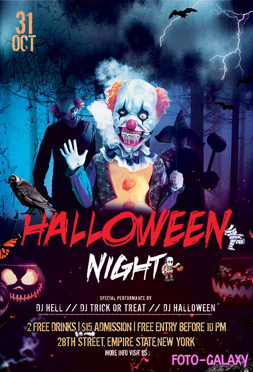 Halloween Nightmare PSD Flyer Template