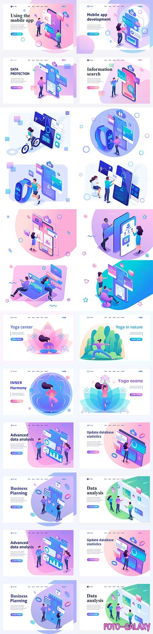 Flat isometric vector 3D concept illustration # 5
