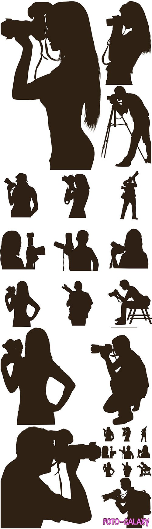 Photographer silhouette vector illustration