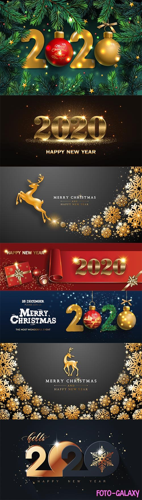 Happy New Year 2020 template, holiday vector