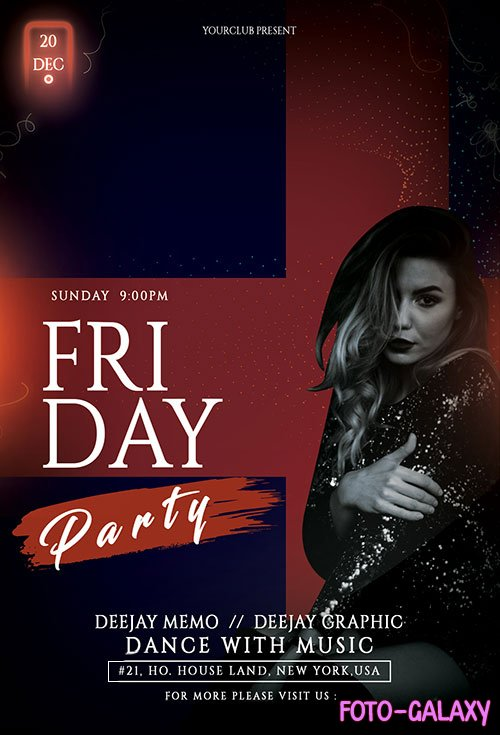 Friday Girls Night - Premium flyer psd template