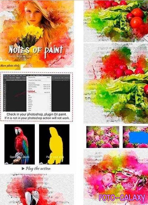 Notes of paint Photoshop Action 24634158