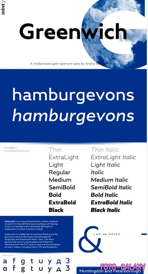 GREENWICH FONT FAMILY