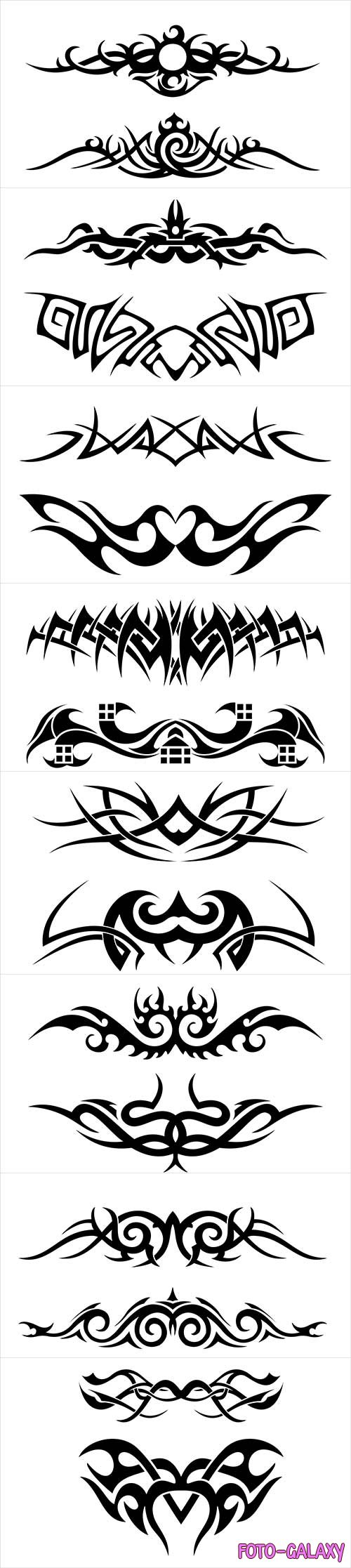 Vector flat tribal tattoo pattern # 2