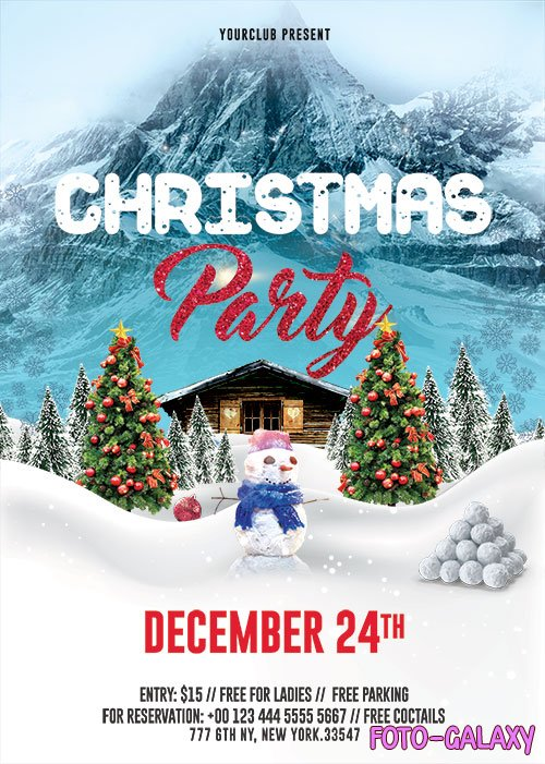 Christmas Party_2 - Premium flyer psd template