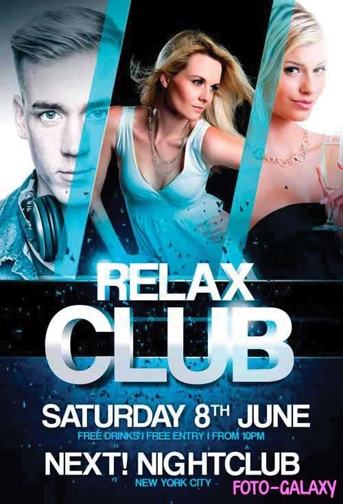 Relax Club - Premium flyer psd template