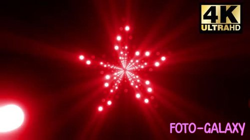 Videohive - 3 Star Led Lamp Vj Pack - 24997175