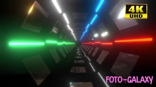 Videohive - Colorful Tunnel Vj Loop - 24730084