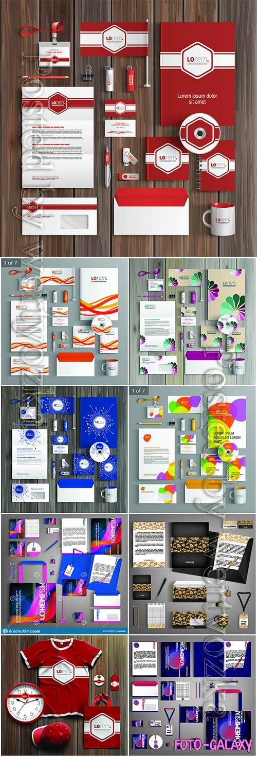 Corporate identity template and promotional gifts # 4