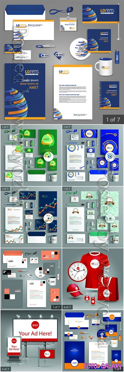 Corporate identity template and promotional gifts # 2