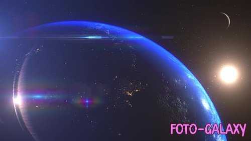 Videohive - Earth And Moon Sunrise South America -  25060248