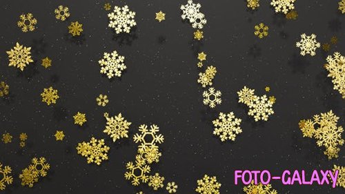 Videohive - Snowflakes Golden Glitter 1 -  25054154