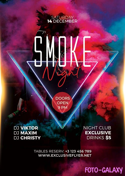Smoke night - Premium flyer psd template