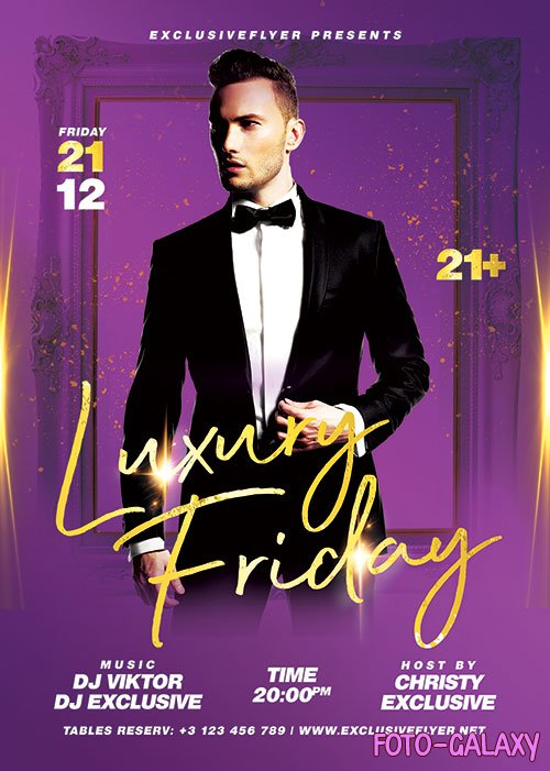 Luxury friday - Premium flyer psd template