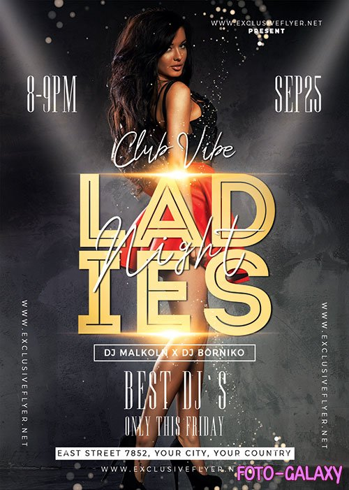 Ladies night flyer - Premium flyer psd template
