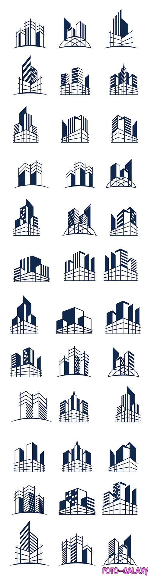 Building construction logo bundle