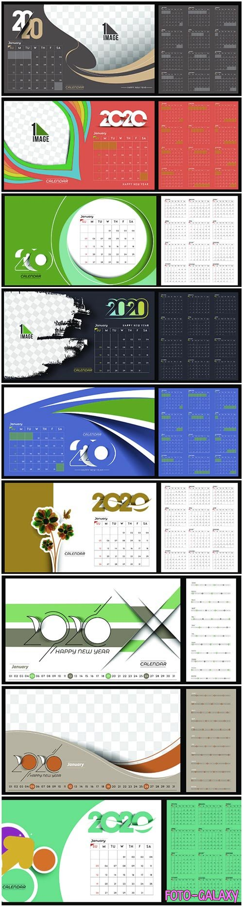 Happy new year 2020 Calendar