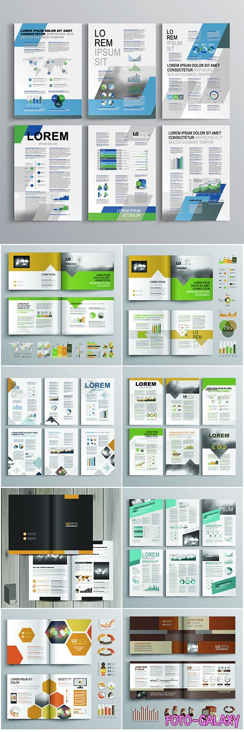 Brochure template vector design # 2