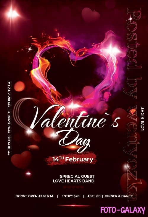 Valentines Day Event - Premium flyer psd template