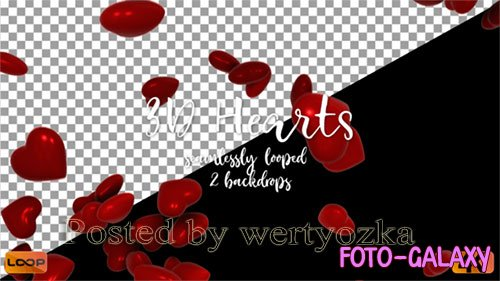 Videohive - 3 D Hearts B - 25574686
