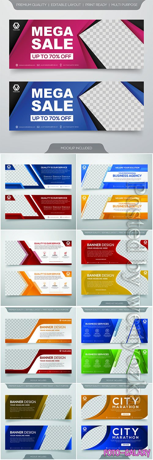 Set of business banner template design