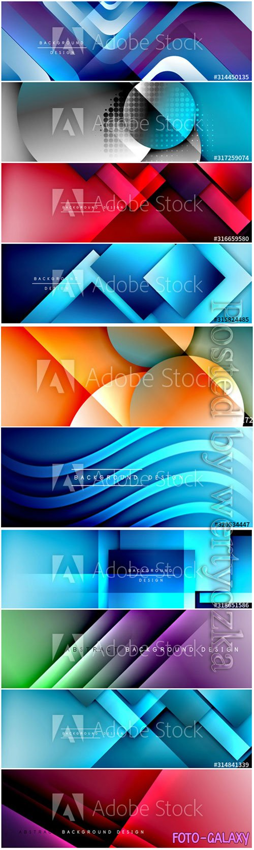 Geometric abstract background 3D effects vector illustrations