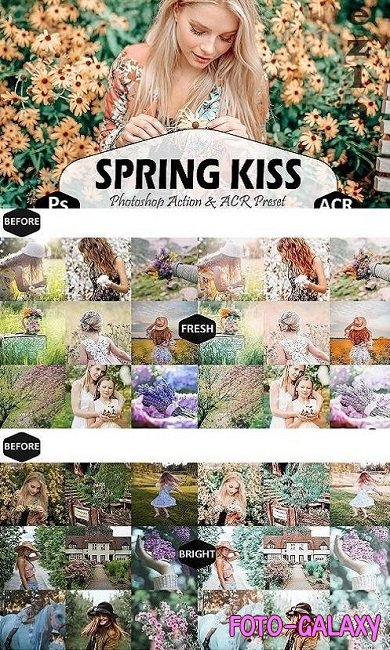 Spring Kiss Photoshop Actions And ACR Presets, pastel Ps - 446858